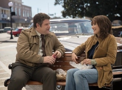 Sean Astin as Bob in Stranger Things with Winona Ryder.
