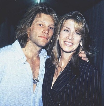 A picture of Jon Bon Jovi with his wife, Dorothea Hurley back in their youth.