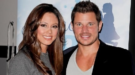 Nick Lachey with his wife Vanessa Joy Lachey.