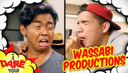 Roi Wassabi with Alex Wassabi in one of their YouTube video of Wassabi Production.