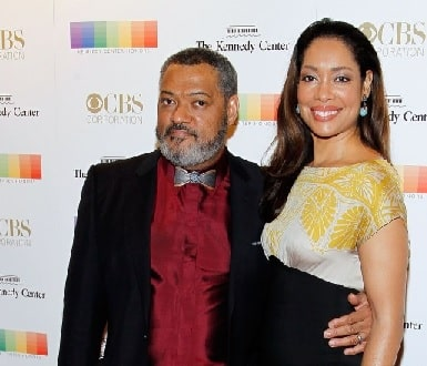 A picture of Laurence Fishburne's second wife Gina Torres
