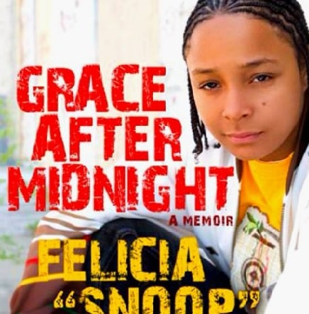 A picture of Felicia Pearson's autobiography book named Grace After Midnight.