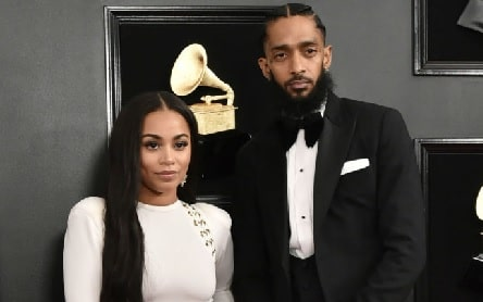 A picture of Nipsey Hussle's girlfriend Lauren London.