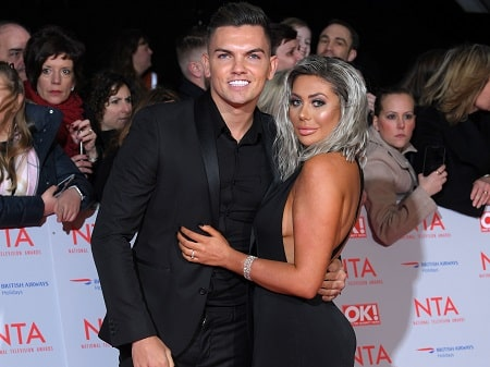 A picture of Chloe Ferry with her ex-boyfriend, Sam Gowland.