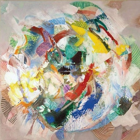 A picture of Rosemary Margaret Hobor's abstract painting.