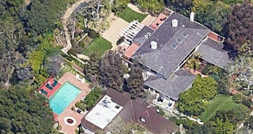 A picture of Chuck Lorre's Los Angeles mansion.