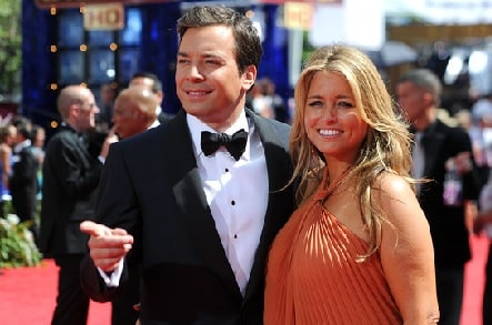 A picture of Winnie Rose Fallon parents Jimmy Fallon and Nancy Juvonen.