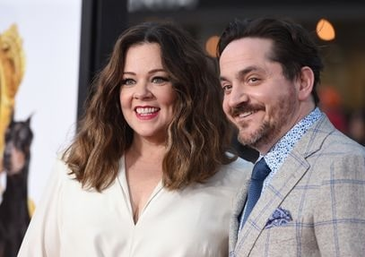 Vivian's parents Ben Falcone and Melissa McCarthy.