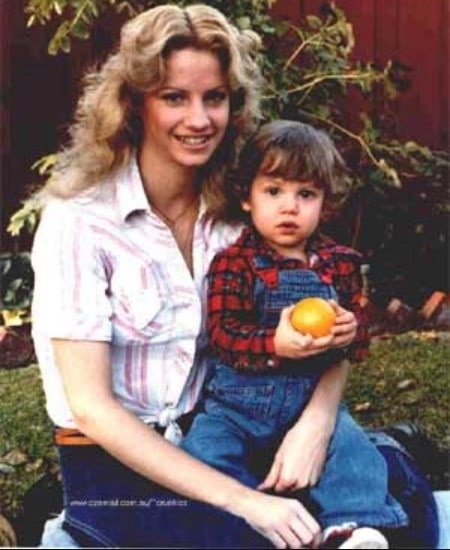 A picture of Neil Jason Wharton with his mother Tami.