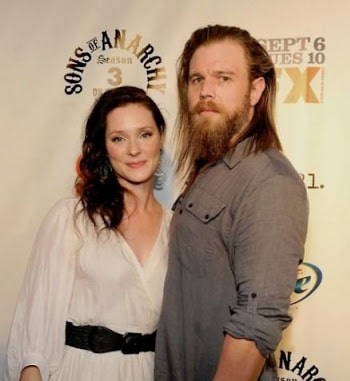 Molly Cookson with her husband Ryan Hurst.