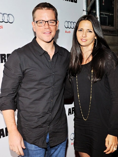 Alexia's loving parents Matt Damon and Luciana Barroso.