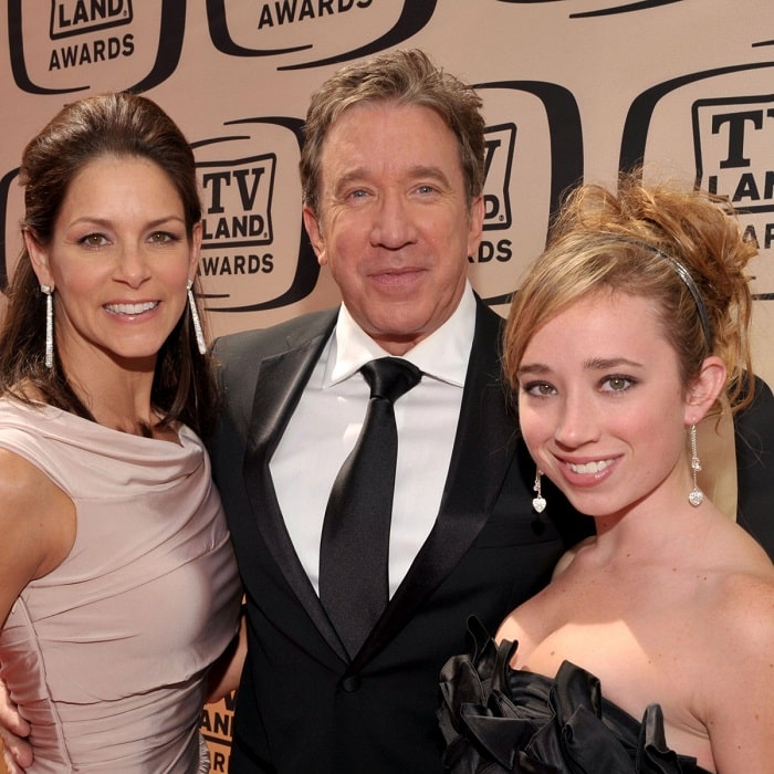 Kady Allen with her father and step mother.
