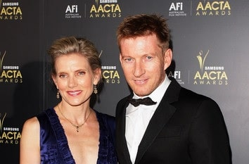A picture of David Wenham and Kate Agnew.