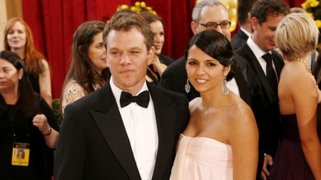 Matt Damon and his wife caught together on a camera.