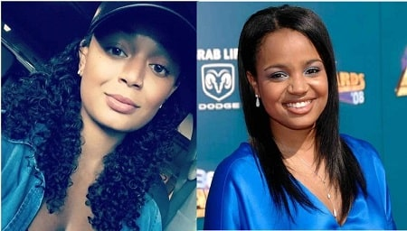 A picture of Kyla Wayans(left) who was confused with Kyla Pratt(right).