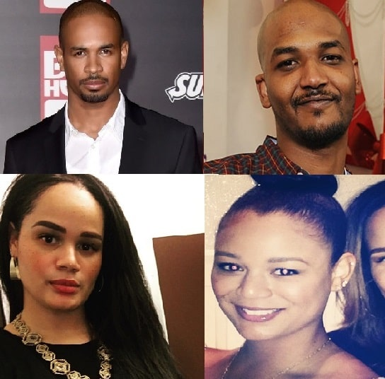 A picture of Kyla Wayans's siblings Damon Wayans Jr, Michael Wayans, and Cara Mia Wayans.