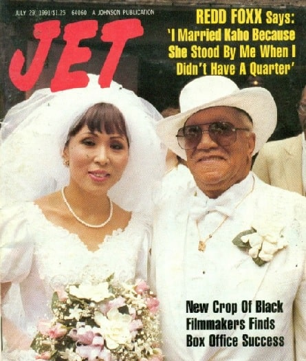 Kaho Cho with her then-husband Redd Foxx in Jet Magazine.