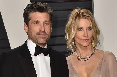 A picture of Talula Fyfe Dempsey's parents Patrick Dempsey and Jillian Fink.