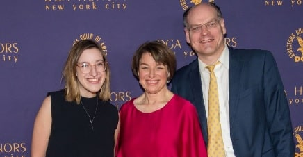 A picture of Abigail Klobuchar Bessler with her parents.Amy Klobuchar and John Bessler.