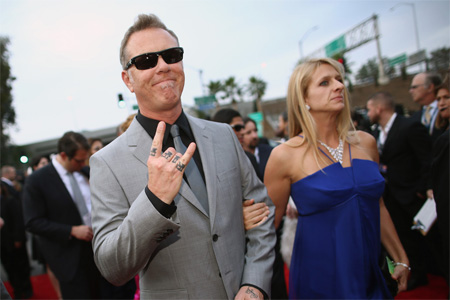 A picture of  James and Francesca Hetfield.