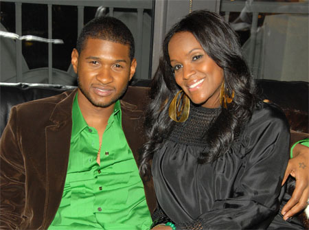 A couple photo of Usher and Tameka.
