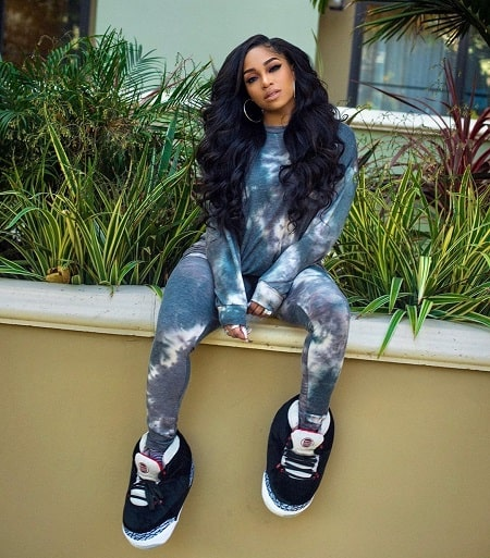 A picture of Brooke Valentine wearing Fashion Nova clothes.