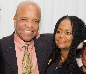 A picture of Hazel Gordy with her father Berry Gordy.