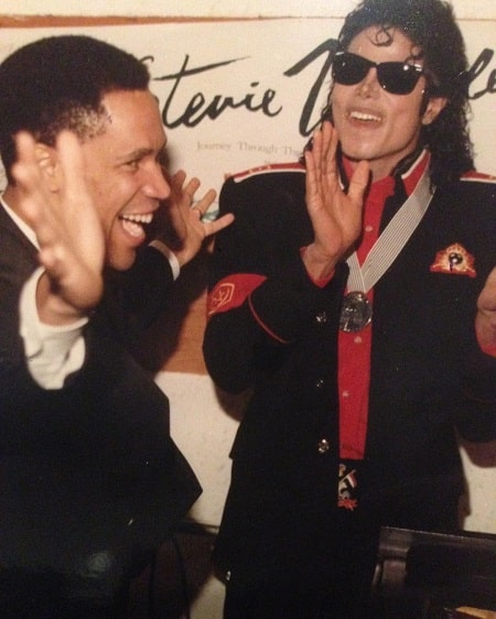 Kerry Gordy with his best friend Michael Jackson.