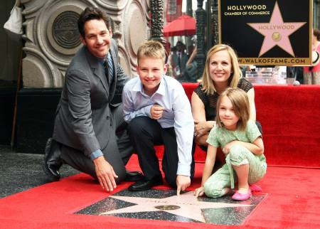 A family photo of Paul Rudd in Hollywood.