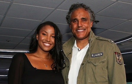 In picture, Rick Fox with his daughter Sasha Gabriella Fox.