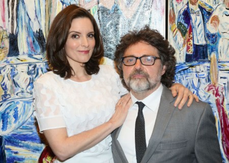 Tina Fey and her husband come together for a photo.