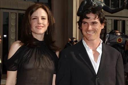A picture of William Atticus Parker parents Billy Crudup and Mary-Louise Parker.