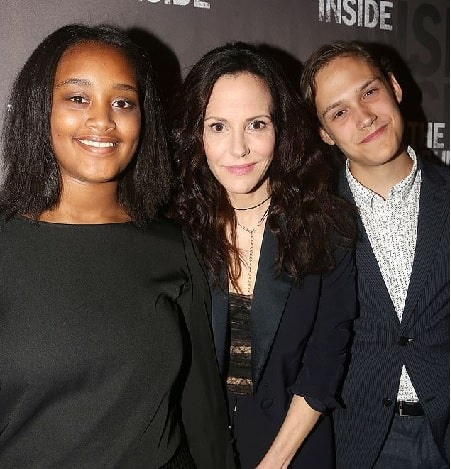 A picture of William Atticus Parker adopted sister Caroline Aberash Parker with their mother Mary-Louise Parker.