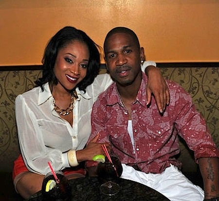 A picture of Stevie J and his ex-girlfriend-baby mamma Mimi Faust.