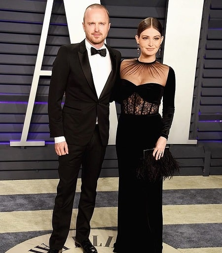 A picture of Story Annabelle Paul parent's Aaron Paul and Lauren Parsekian.