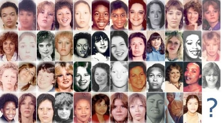 Pictures of 48 victims of Gary Ridgway.