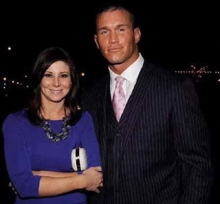A picture of Alanna Marie Orton parents Randy Orton and Samantha Speno.