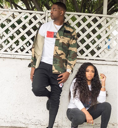 A picture of Brooke Valentine and Marcus Black.