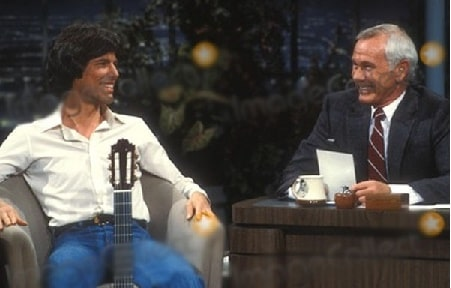 Jody Morrill Wolcott son Cory Carson with his dad Johnny Carson in his late-night show.