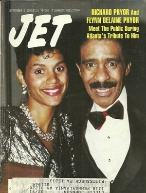 Flynn Belaine with her ex-husband Richard Pryor in the cover picture of Jet Magazine.