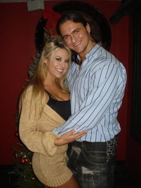 Kaitlyn Frohnapfel's husband Drew Mclntyre with his ex-wife Taryn Terrell.