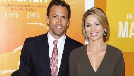 Jennifer Hageney ex-husband Andrew Shue's with his second wife Amy Robach.