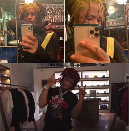 Trippi Redd's Dressing Room, And iPhone 11 Pro-Max