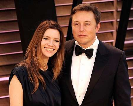 Talulah Riley with her ex-husbanmd Elon Musk
