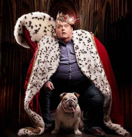 Ralphie May Dressed as a king