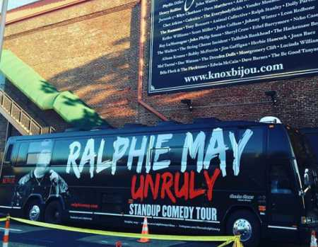Ralphie May's $100 thousand worth tour-bus.
