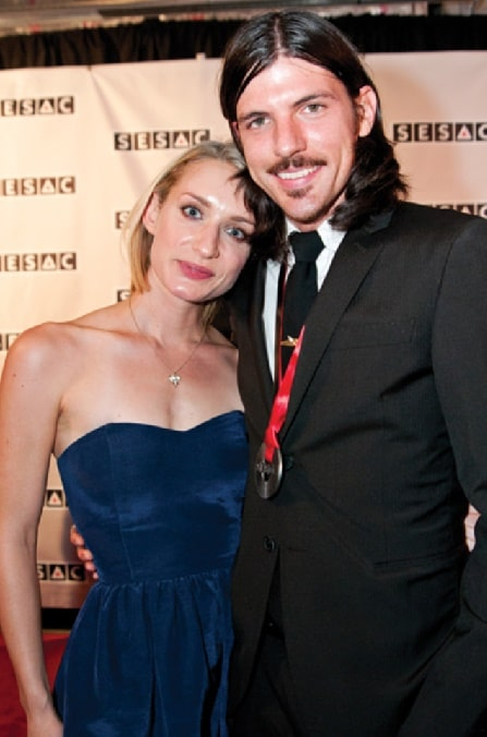 Susan Adkins with her ex-husband Seth Avett.