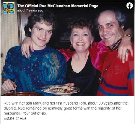 Rue McClanahan's Son Mark, Her Ex-Husband Tom and  Rue McClanahan