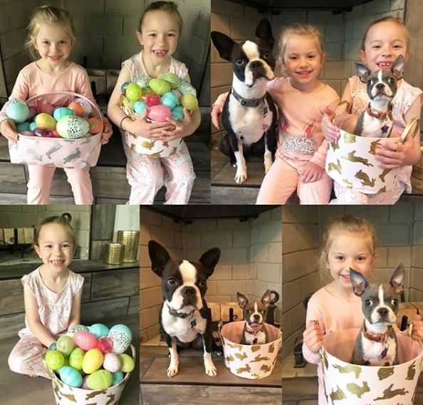 Brad's two adorable kids celebrating Easter.