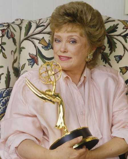 Rue McClanahan With Her Emmy Award